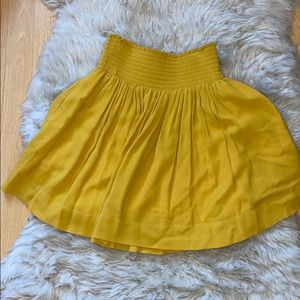 Yellow flowy skirt